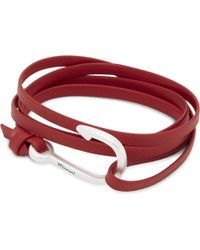 Miansai | Red Hook Silver-toned Leather Wrap Bracelet for Men | Lyst