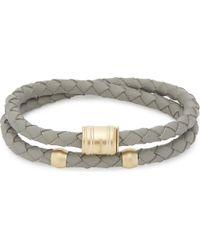Miansai | Metallic Casing Double-wrap Leather Bracelet | Lyst