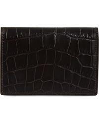 Smythson - Black Mara Leather Card Case - Lyst