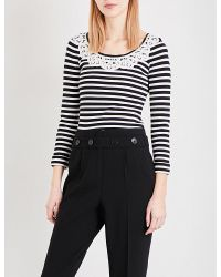 Claudie Pierlot | Black Mariniere Striped Knitted Jumper | Lyst