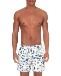 Nikben - Blue Life's A Beach Swim Shorts for Men - Lyst