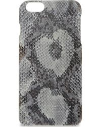 The Case Factory - Gray Python-print Leather Iphone 6+ Case - Lyst