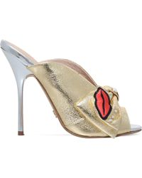 KG by Kurt Geiger - Metallic Harmony Embellished Fabric Mules - Lyst