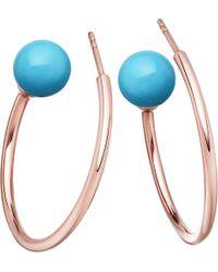 Astley Clarke - Metallic Ezra Rose-gold Vermeil & Turquoise Hoop Earrings - Lyst