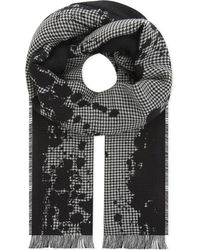 The Kooples - Multicolor Houndstooth Wool-blend Scarf - Lyst
