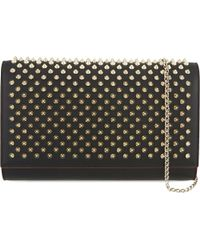 Christian Louboutin | Multicolor Paloma Clutch Calf P/spikes | Lyst