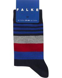 Falke - Blue Irregular Stripe Cotton-blend Socks for Men - Lyst