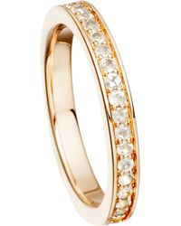 Astley Clarke - White 18ct Rose Gold Vermeil And Moonstone Eternity Ring - Lyst