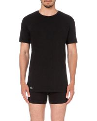 Lacoste - Black Pack Of Two Cotton-jersey T-shirts for Men - Lyst