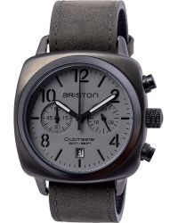 Briston | Gray 15140.spg.c.12.lvb Clubmaster Classic Steel And Canvas Chronograph Watch | Lyst