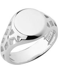 Links of London - Metallic Timeless Sterling Silver Signet Ring - Lyst