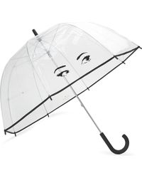kate spade new york - Brown Eyes Clear Umbrella - Lyst