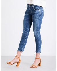 Citizens of Humanity | Blue Elsa Slim Tapered Mid-rise Jeans | Lyst