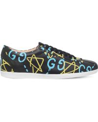 Gucci - Blue X Ghost Bambi Leather Traienrs for Men - Lyst