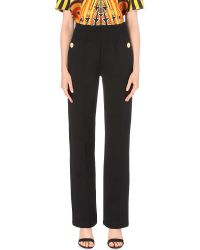Givenchy - Black Cummerbund-style Straight Cotton-blend Trousers - Lyst