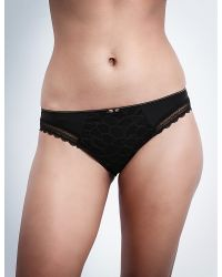 Chantelle - Black Merci Jersey And Stretch-lace Bikini Briefs - Lyst