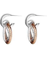 Links of London - Metallic Aurora Sterling Silver And 18ct Rose Gold Vermeil Hoop Earrings - Lyst