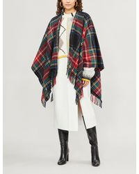 Maje - Multicolor Elora Plaid Cotton-blend Shawl Scarf - Lyst
