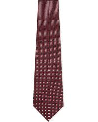 Ermenegildo Zegna - Mens Red Square Small Squares Silk Tie for Men - Lyst