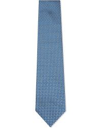 Ermenegildo Zegna | Blue Floral Dot Pattern Silk Tie for Men | Lyst
