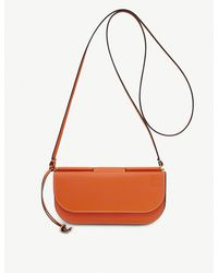 Loewe - Orange Gate Leather Pochette - Lyst