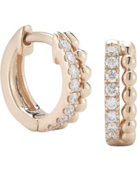 The Alkemistry - Metallic Dana Rebecca 14ct Rose Gold And Diamond Earrings - Lyst