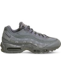 Nike | Gray Air Max 95 Suede And Mesh Trainers for Men | Lyst