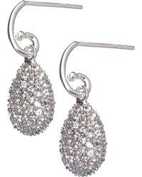 Links of London - Metallic Hope Egg White Topaz Earrings - Lyst