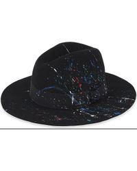 1eea4bea0b1 Lyst - Sensi Studio California Splash-detail Wool-felt Fedora Hat in ...