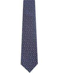 Lanvin | Blue Contrast Fleck Silk Tie for Men | Lyst