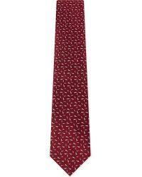 Lanvin | Red Fleck Silk Tie for Men | Lyst