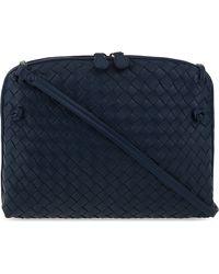 Bottega Veneta - Blue Ciel Intrecciato Leather Small Cross-body Bag - Lyst