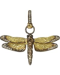 Annoushka | Dragonfly 18ct Yellow-gold And Diamond Pendant | Lyst