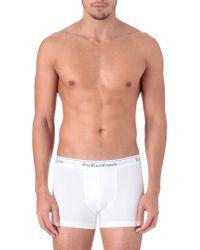 Polo Ralph Lauren | White Three Pack Logo–waistband Trunks for Men | Lyst