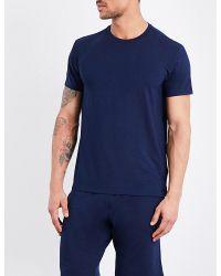 Polo Ralph Lauren | Blue Logo-detail Stretch-jersey T-shirt for Men | Lyst