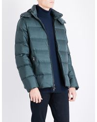 4ce32ab1f162 Lyst - Michael Kors Hooded Shell Puffer Jacket in Blue for Men