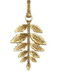 Annoushka | 18ct Yellow-gold And Diamond Fern Amulet | Lyst