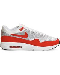 Nike | Red Air Max 1 Ultra Flyknit Trainers for Men | Lyst