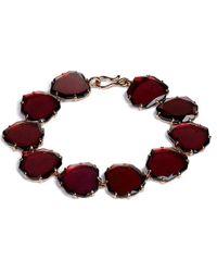 Annoushka | Red 18ct Rose Gold And Garnet Shard Bracelet | Lyst