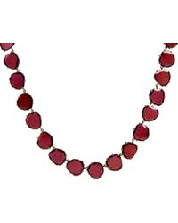 Annoushka | Red 18ct Rose Gold And Garnet Shard Necklace | Lyst