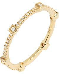 Annoushka | Metallic 18ct Yellow Gold And Diamond Eternity Ring | Lyst