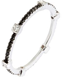 Annoushka - Multicolor Pavilion Black Diamond 18ct White Gold Eternity Ring - Lyst