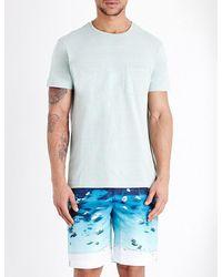 Orlebar Brown | Blue Sammy Ii Cotton-jersey T-shirt for Men | Lyst