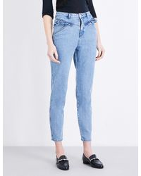 Claudie Pierlot | Blue Pulp High-rise Skinny Cropped Jeans | Lyst