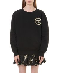BOY London | Black Metallic Eagle Logo Cotton-jersey Sweatshirt | Lyst