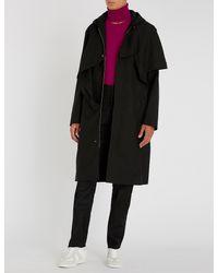 Chalayan - Black Asymmetric Wool-blend Coat for Men - Lyst