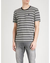 The Kooples - Multicolor Striped Cotton-jersey T-shirt for Men - Lyst