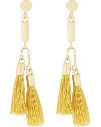 Chloé | Metallic Tasseled Earrings | Lyst