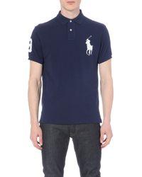 Polo Ralph Lauren - Blue Custom-fit Cotton-piqué Polo Shirt for Men - Lyst