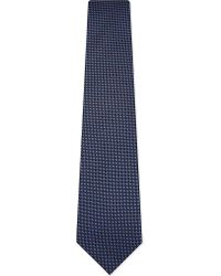 Gieves & Hawkes | Blue Woven Square Silk Tie for Men | Lyst